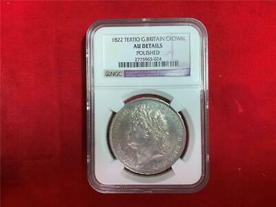 Great Britain 1822 Tertio King George Iv Crown Ngc Au Details Lightly Polished