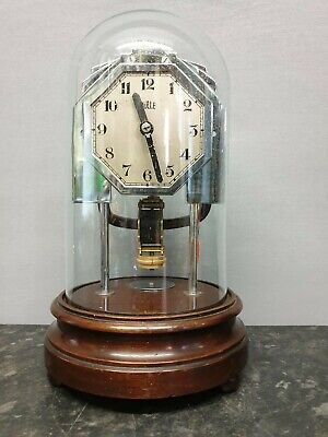 Unusual Art Deco Bulle Clockette Battery Powered Electromagnetic Mantle Clock