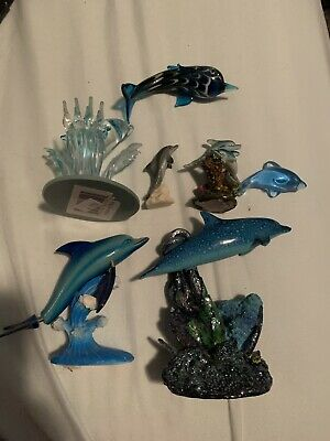 Dolphin Statue Lot- 7 Statues