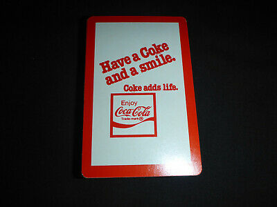 """Vintage Enjoy Coca-Cola Playing Cards Red Deck """"Coke Adds Life to"""""""