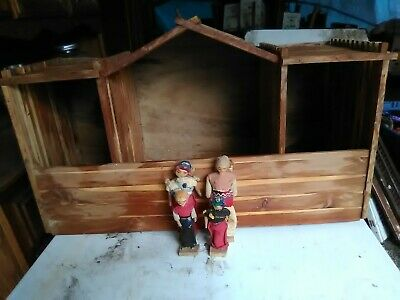 Paper mache South American Dolls with Wooden House