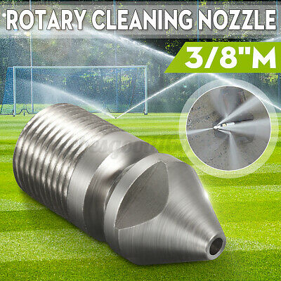 "Pressure Washer Jet Wash Drain Cleaning Nozzle 3/8""M BSP 1 Forward 8  !"
