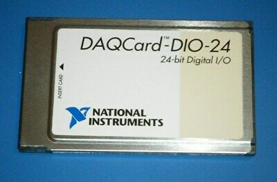 NI DAQCard-DIO-24, 24-Bit Digital IO for PCMCIA, National Instruments *Tested*