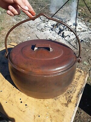 Vintage cast iron gypsy pot 6gallon