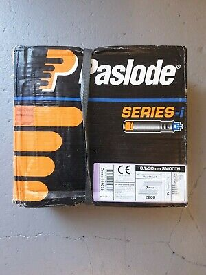 Paslode 141070 3.1mm x 90mm Galv Plus -Nails x 2200 and 2 Fuel Cells