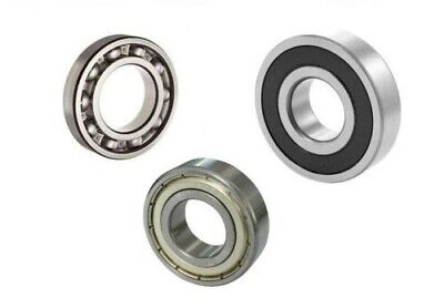6000 to 6012 Open, 2RS Sealed, ZZ Shielded - Superior Quality Ball Bearings