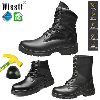 Mens Safety Steel Toe Cap Work Shoes Indestructible Boots Army Military Tactical