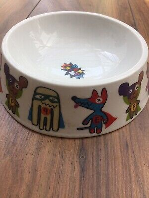 Pet Cat ~ Food / Water Dish Bowl ~ Porcelain - Pet Champz Design  Paperchase