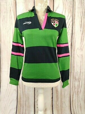 Womens Heritage Collection Lansdowne Ireland Rugby Top Jersey Size UK 8
