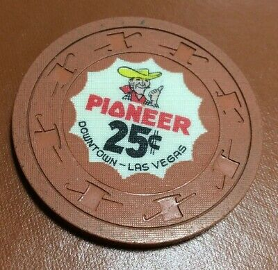 Pioneer Club 25 Cent Casino Chip- Extremely Scarce 1960's Vegas Vic