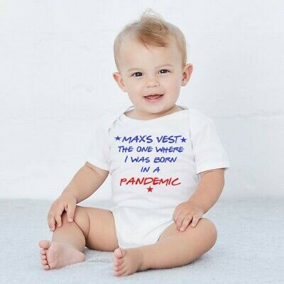 PERSONALISED Funny Baby Vest Baby Grow Football Comedy Hobby Sport Film BATCH 12