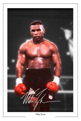 Mike Tyson Signed Photo Print Autograph Boxing