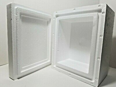 "Styrofoam Insulated Cooler W/ Slotted Lid 11.25"" x 9.5"" x 7""  1.5"" Thick Walls"