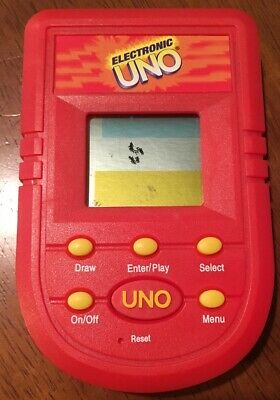 Electronic Uno Handheld Game Mattel 2001 Tested and Works Pre-owned