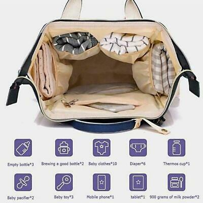 Nappy Diaper Bag Mummy Nursing Baby Care Backpack With Travel USB Port Char Z2N2