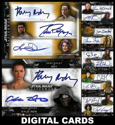 Topps Star Wars Trader MASTERWORK 20 Wave 2 [7 CARD TRIPLE/DUAL/BNS SIGNATURES]
