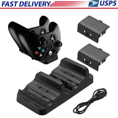 For XBOX ONE Dual Charging Dock Station Controller Charger With 2 Extra Battery