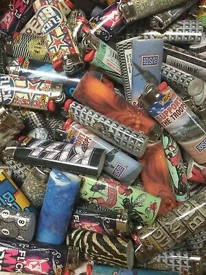 Bic lighters 12 Full Size Big Lighters  Multi Purpose Assorted Colors & Designs