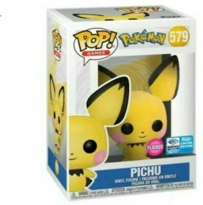 Funko POP! #579 Pokemon Flocked Pichu 2020 Wondercon Shared Exclusive *IN HAND*