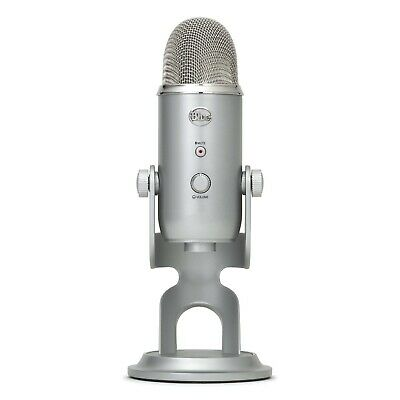 Blue Yeti 3 Capsule USB Microphone Silver Prefect for Field Recordings