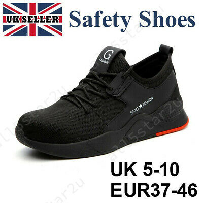 Men Lightweight Work Trainers Safety Shoes Toe Steel Mens Hiking Boots Ankle Cap