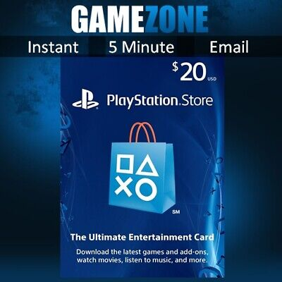 PlayStation PSN $20 USD Wallet Top Up Card - USA Store - Instant Code PS4/PS3