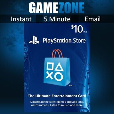 PlayStation PSN $10 USD Wallet Top Up Card - USA Store - Instant Code PS4/PS3
