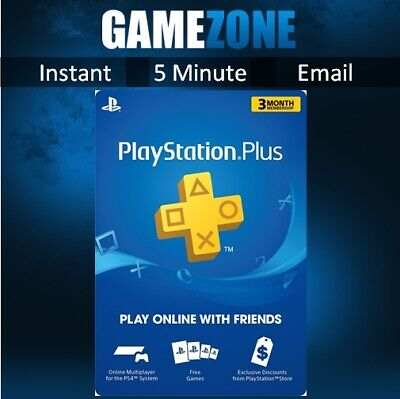 PlayStation Plus 90 Days PSN Membership USA PS Store -3 Month Code- PS4 Instant