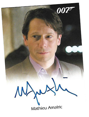 2017 Rittenhouse James Bond Archives Final Edition Mathieu Amalric AUTO
