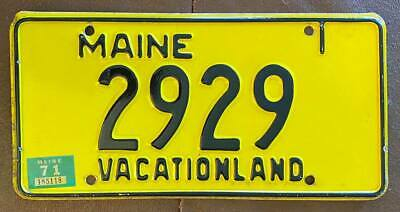 Maine 1971 License Plate HIGH QUALITY # 2929
