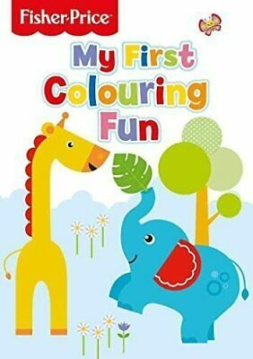 New Fisher Price My First Colouring Fun Toddler Kids Drawing Activity Book