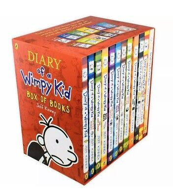 Diary of a Wimpy Kid Collection Jeff Kinney 12 Books Box Set Pack