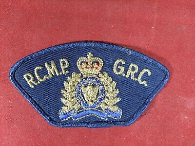 RCMP GRC Royal Canadian Mounted Police Uniform Blue and Gold Patch