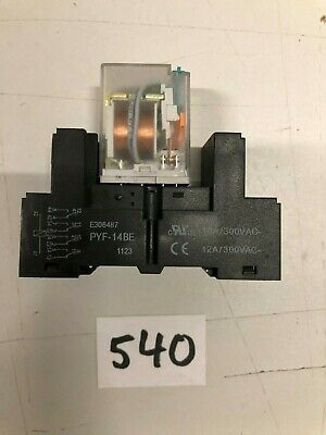 Tele RM 024 L 100603 Ld Miniature Relays 24V + Socket Pyf - 14BE
