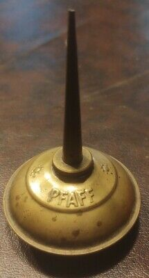 PFAFF German Sewing Machine Oiler Tin Oil Can Container Vintage Brass Metal