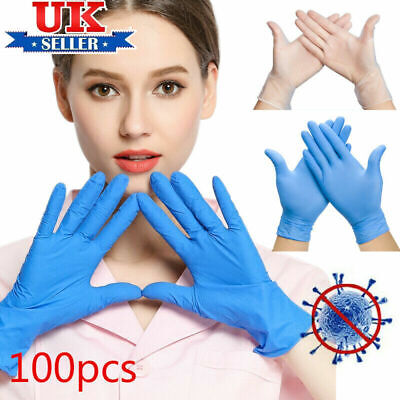 Latex Genuine Qualiy Nitrile PPE Gloves 20-100 Pack at  £8.95-£17.95 £0.18