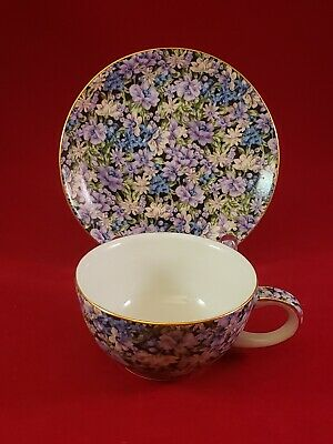 Twos Company Chintz Mollie Tea Cup And Saucer. Excellent Condition