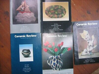 CERAMIC REVIEW -1980s- 25 Editions . UK MAINLAND POST ONLY