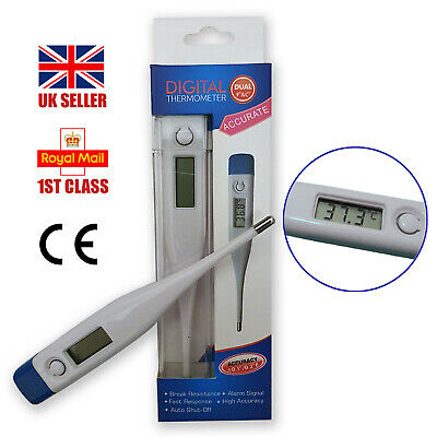 Digital LCD thermometer mouth ear underarm adult baby child medical fever alarm