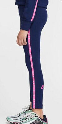 Nike Leggings Girls Age 10-12 Years Blue And Pink Nike Air Bottoms