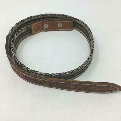 MENS JUSTIN LEATHER Western Belt & Silver Buckle, Concho