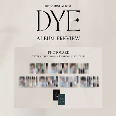 GOT7 DYE 11st mini Official [PHOTOCARD / PHOTO ESSAY / BOOKMARK / POSTER / ETC]