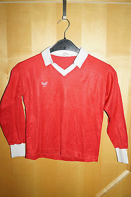 Erima Sports Shirt Jersey Vintage 70/80iger Red Made Germany XS D1-2 32