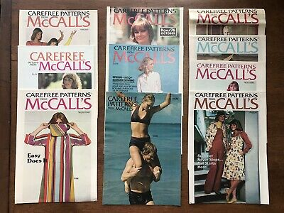 Lot of 10 Vtg Carefree Patterns From McCall's Clothing Fashion Catalog Booklets