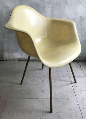 Early Ray & Charles Eames 'Zenith' Stamped Herman Miller Rope Edge Chair Vintage