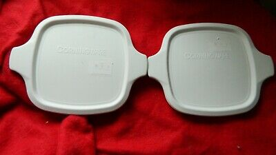 CORNING WARE PETITE PAN NEW P-43-PC LIDS x 2 FITS P-41 & P-43 PANS FREE USA SHIP