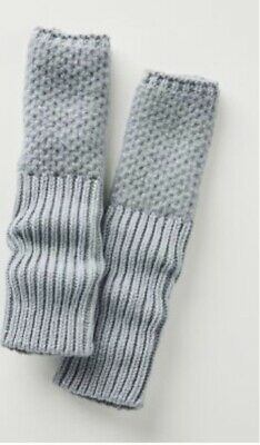 Beautiful New With Tags Anthropologie Bergen Fingerless Gloves Grey