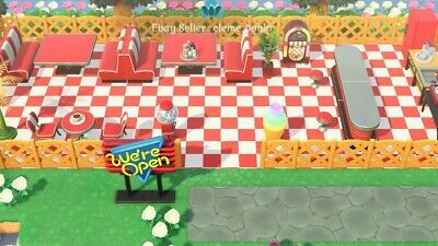 Outdoor Red Diner Set (31pcs) - Animal Crossing New Horizons