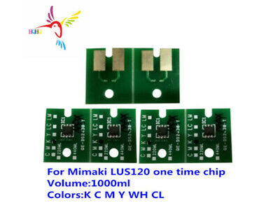 6Chips of LUS120 One time chip For Mimaki UJF-3042 JFX200-2513 UJF-6042 UJF-7151