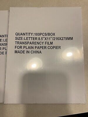 500 sheets Overhead Transparency Film For overhead projector 5-100 count boxes